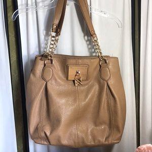 Dana Buchman Hobo Bag Tan Faux Leather